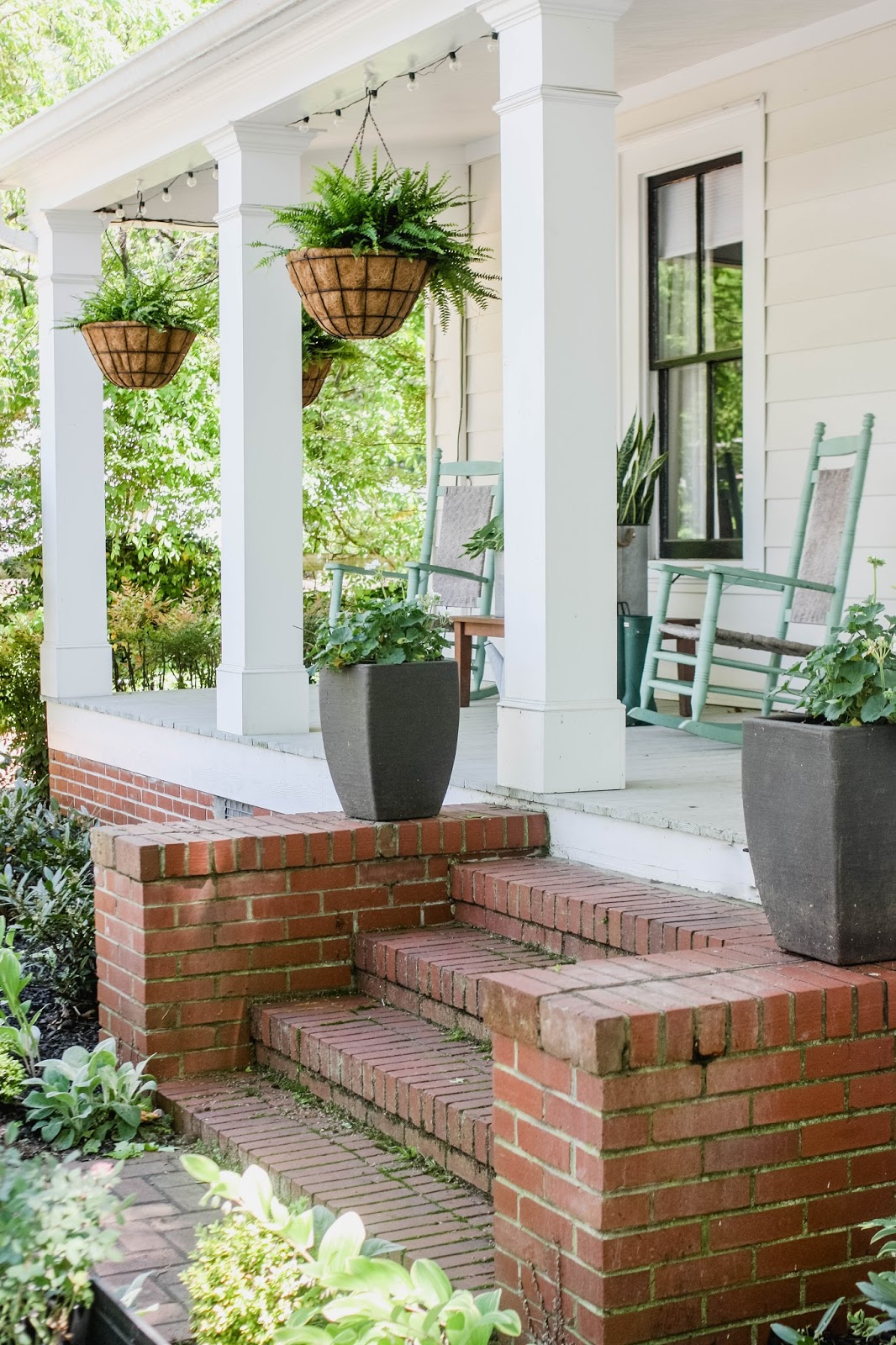 Lesley W Graham Front Porch Makeover with Home Depot