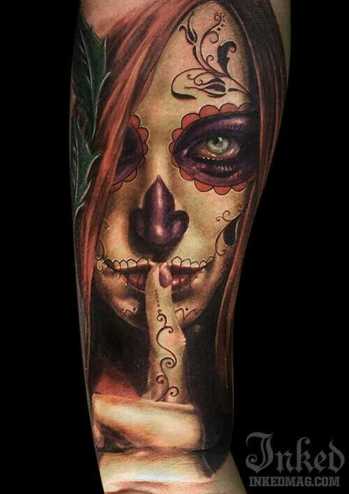 La Catrina es una criatura que refleja lo irresistible que resulta aquello que es prohibido, tatuársela es una afirmación de esto mismo.