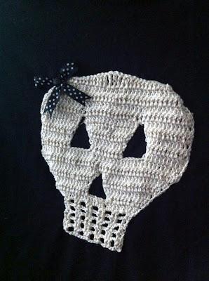 calavera de ganchillo o crochet