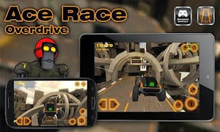Screenshots of the Ace Race Overdrive for Android tablet, phone.