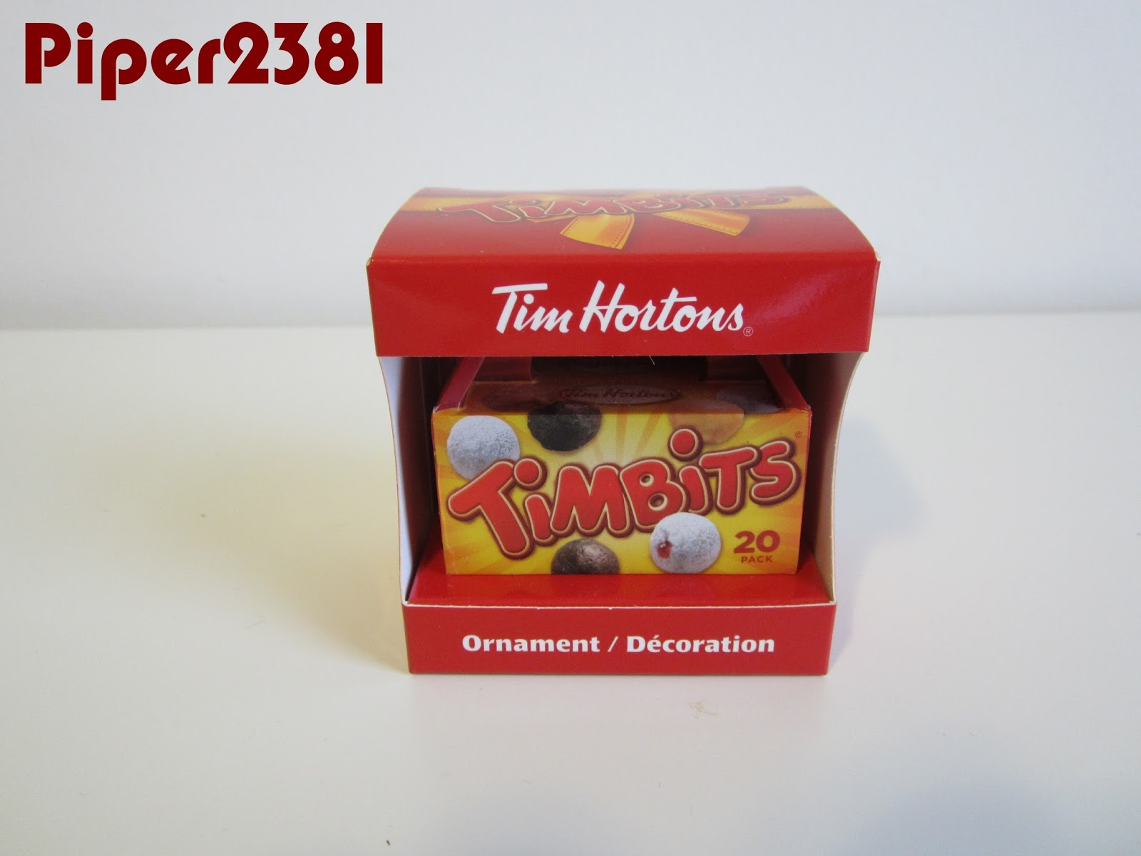 Toronto blue jays christmas ornament - This Year S Tim Hortons Christmas Ornament Is A Timbits Box It S An Exact Replica Of The Regular 20 Pack Box You Usually Get Throughout The Year Except