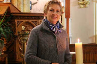 Dr. Mary McAleese pictured recently while visiting a church in Lowell, Massachusetts (Credit:room50.wordpress.com)