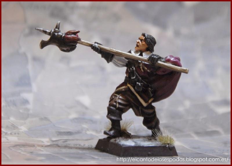 El Canto de las Espadas Miniatures. Guarnicionero-ysbilia-antiuo-regimen-capa-espada-warhammer-mordheim-empire-proxie-1