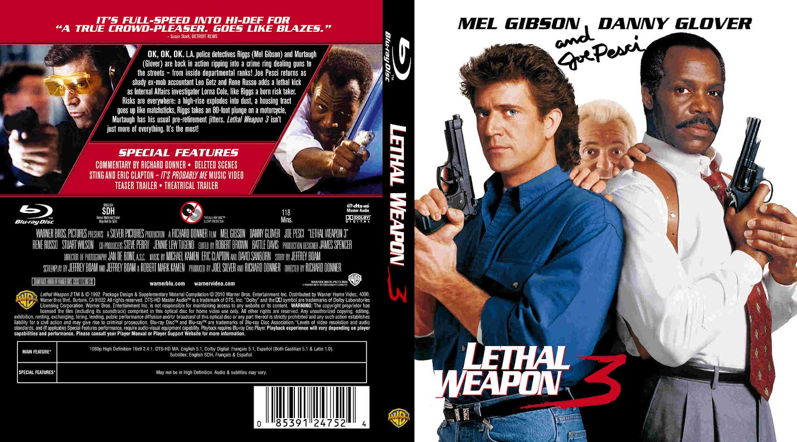 Arma mortal 3 -Lethal Weapon 1992 -Mg.,Mf.y Sf.-