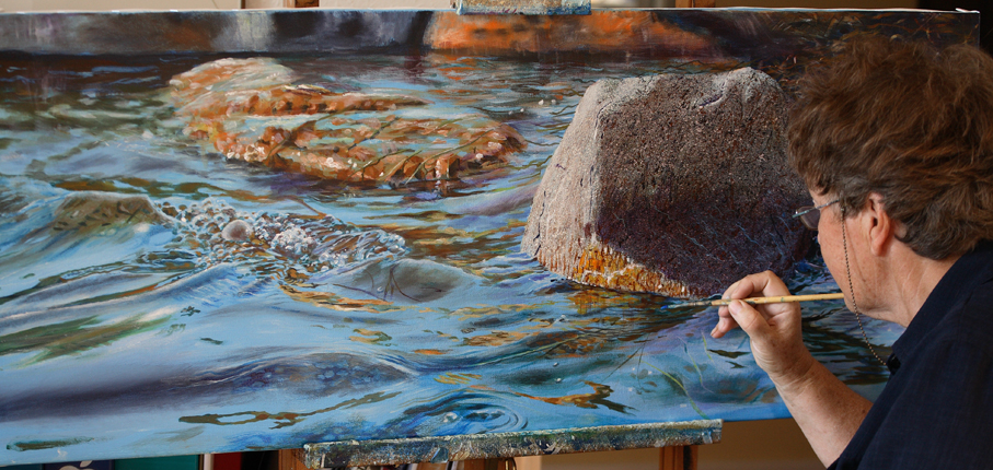 artist elizabeth tyler painting depth in acrylics