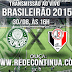 PALMEIRAS x JOINVILLE - BRASILEIRÃO - 30/08 - 16hs