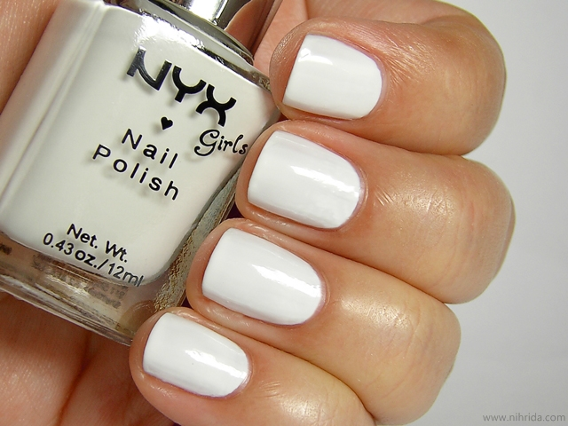 NYX Girls Nail Polish in White