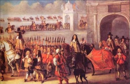 Charles II - coronation procession