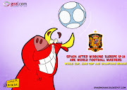 this cartoon is on Spain, which they won Europe U21 championship (spain)