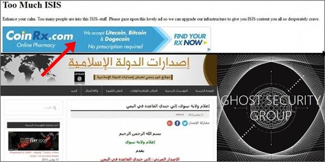 Diretas hacker, situs ISIS tampilkan iklan obat kuat