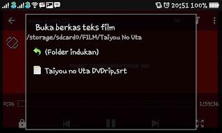 cara menampilkan subtitle film atau video