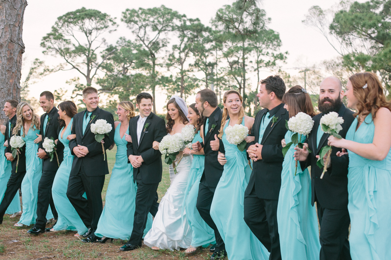 palm beach florida wedding bridal party photo