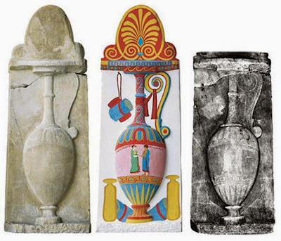 Estela de Para mythion, del 380-370 a. C.