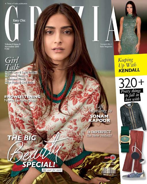 Actress @ Sonam Kapoor - Grazia India, November 2015
