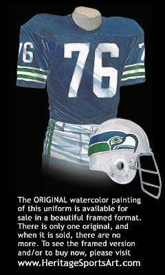 Seattle Seahawks 1976 uniform