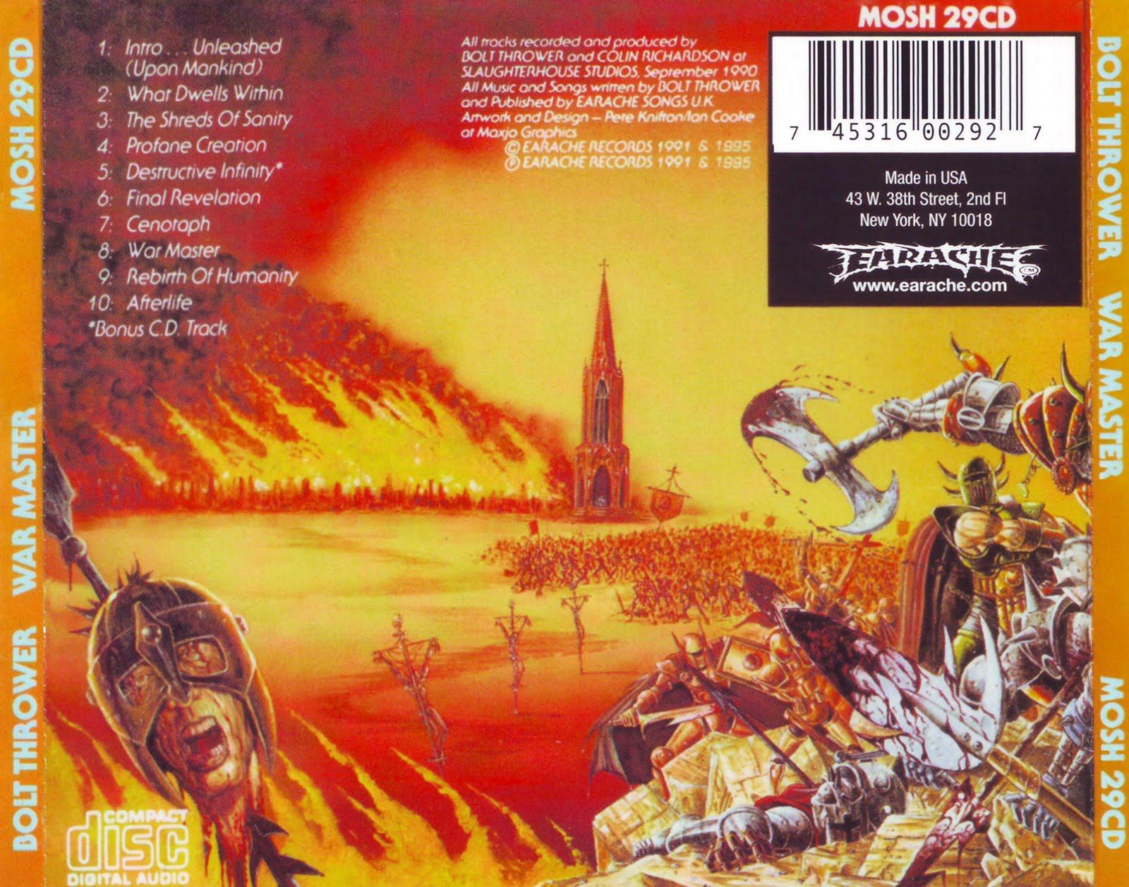 THE ARRIVAL: Bolt Thrower - War Master [1991]