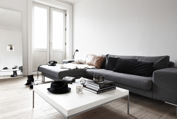 Black And White Apartment In Copenhagen 79 Ideas
