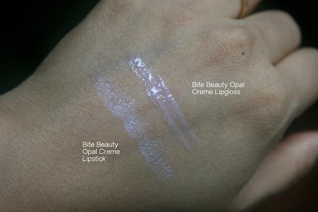 BITE Beauty Opal Creme Lipstick and Lipgloss Swatches