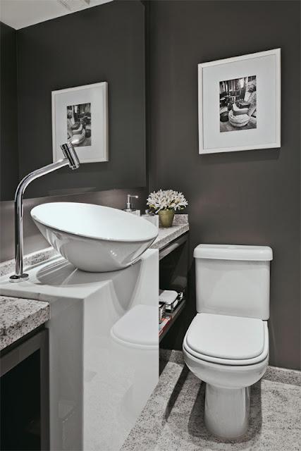 imagens decoracao lavabo : imagens decoracao lavabo:Construindo Minha Casa Clean: Banheiros e Lavabos! Maravilhosos!!!
