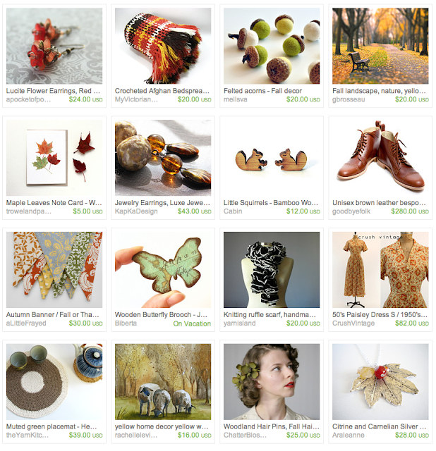 Autumn in the Park Gift Guide on Etsy #gifts #autumn #fall #etsy #vintage
