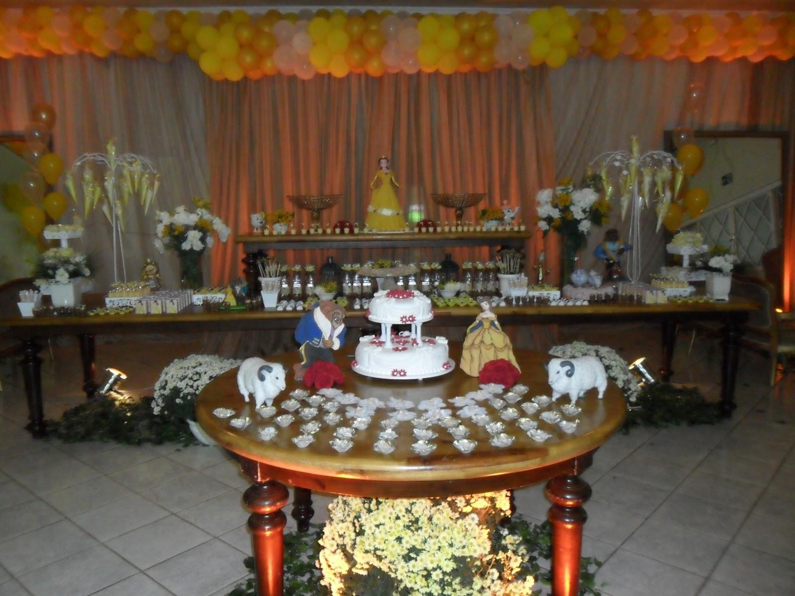 Decoração Bela e a Fera Especial Raul & Ricardo Festas #B44017 1600 1200