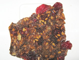 dried flaxseed cracker