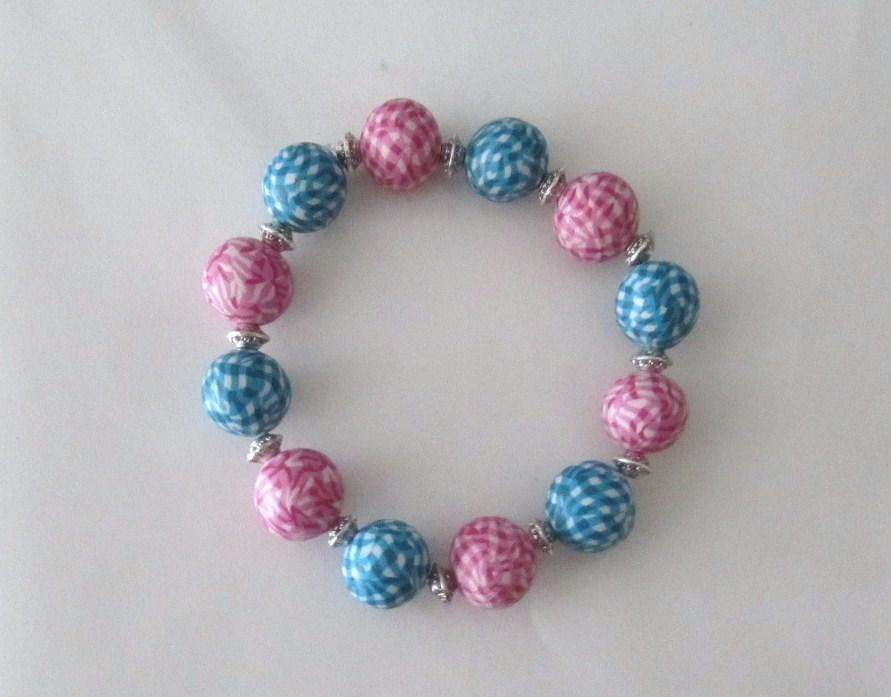 Bijoux de cr ation en p te fimo bracelet perles vichy fimo - Modele de pate fimo ...