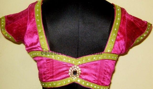 Simple Look Saree Blouse Designs