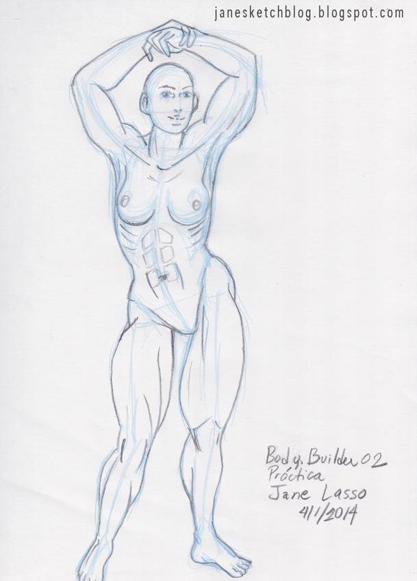 Dibujo del cuerpo musculoso