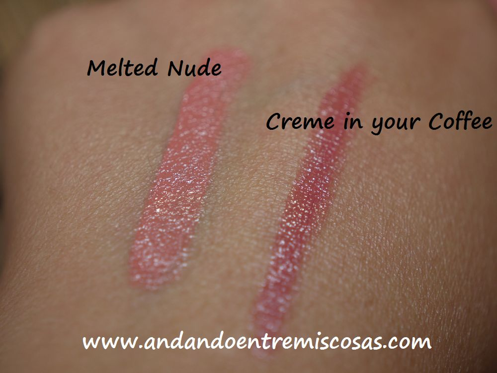 Swatches Melted Nude y Creme in your Coffee