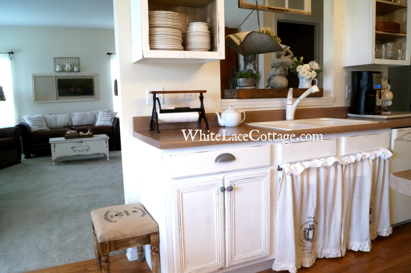 Kitchen Sink Skirt a Painted Blanket Chest And A Little French too ...