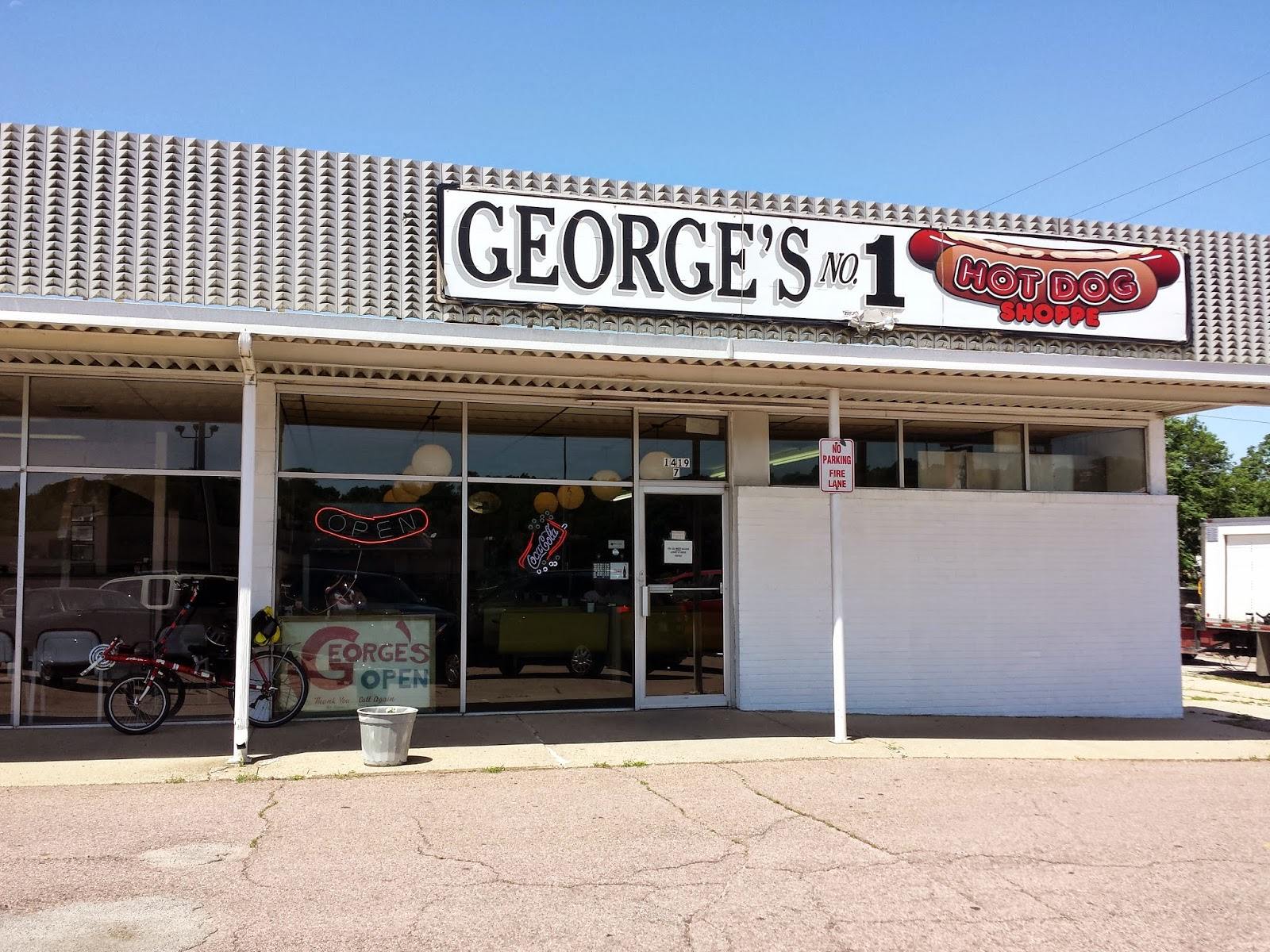 history and culture by bicycle corner bar approved george 39 s no 1 hot dog shoppe. Black Bedroom Furniture Sets. Home Design Ideas
