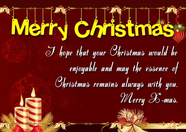 Best Wishes for  Christmas with Greetings Cards