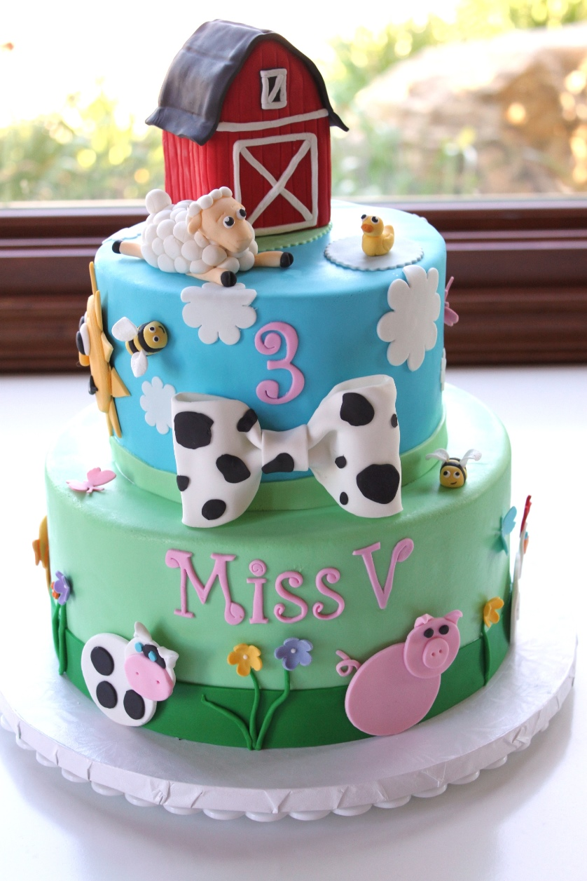 cocoa fig Barnyard Birthday Cake