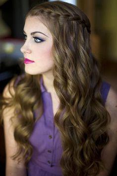Aquí las mejores imágenes de Trenzas en el pelo suelto \u0026quot;Super juvenil\u0026quot; 2015,para tu elección