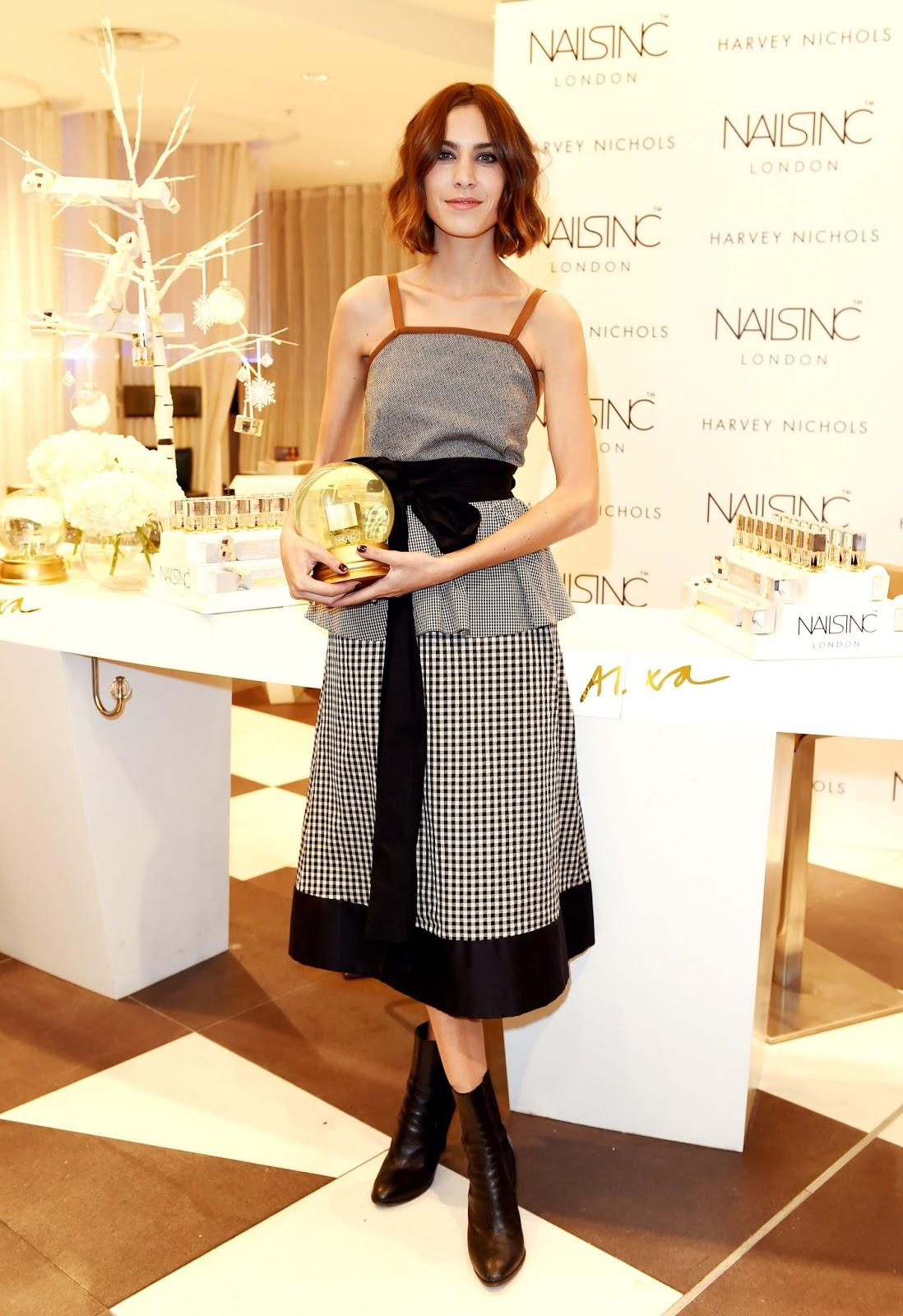 Alexa Chung Liverpool Harvey Nichols Beauty Baazar