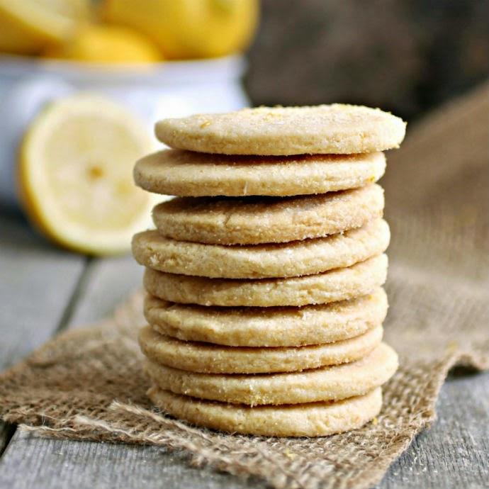 Lemon Cornmeal Shortbread Cookies
