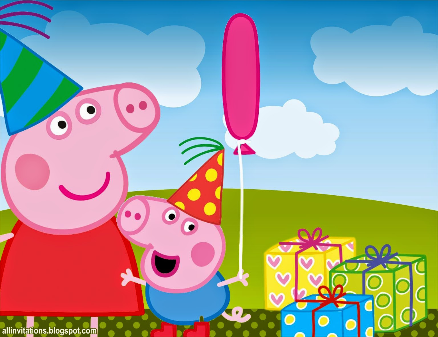 Printable Peppa Pig Invitations were Unique Layout To Create Perfect Invitations Card