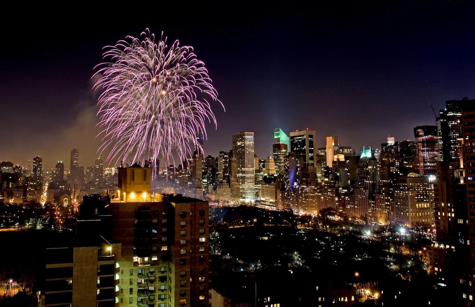 Fireworks in Central Park