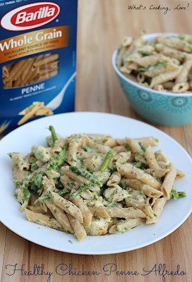 http://whatscookinglove.com/2013/08/healthy-chicken-penne-alfredo/