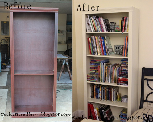 before and after garbage bookcase