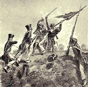 Serangan Belanda ke Pantai Barat Sumatera. Dalam gambar itu tampak Let.