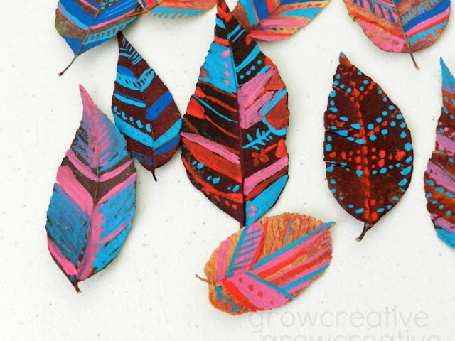 Tribal Designs on Dried Leaves: Grow Creative