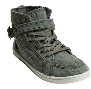 roxy renegade studded high top, high top sneakers, roxy sneakers, roxy high tops, roxy sneakers, grey high top sneakers