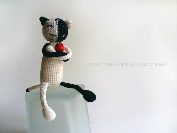 """Мягкая игрушка связанная крючком - Кош / Kosh - персонаж комикса """"КОШ & все-все-все"""""""