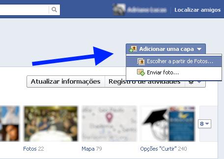 Como mudar a capa do Facebook | Alem de Dicas