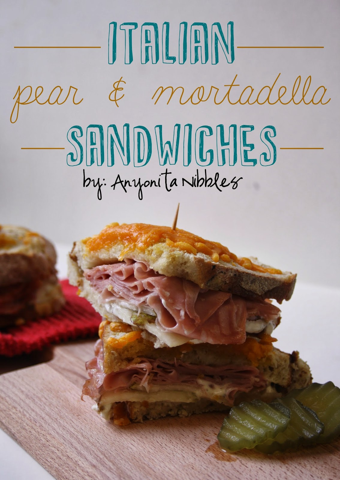 Easy mortadella/bologna and cheese sandwiches | Anyonita Nibbles