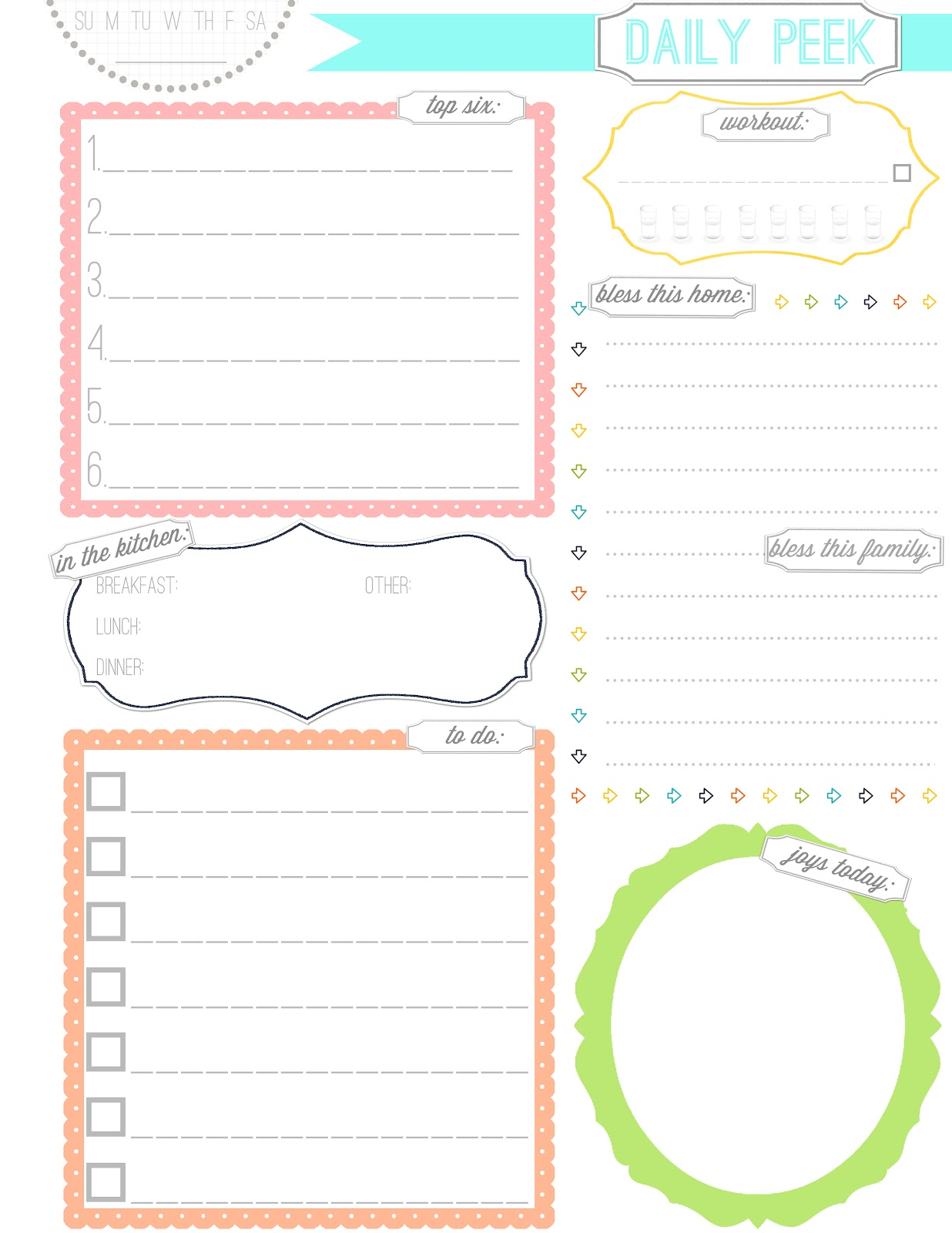 Daily Agenda Page My Blog – Daily Agenda Template