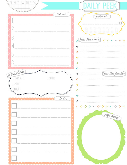 cute free printable daily planner page