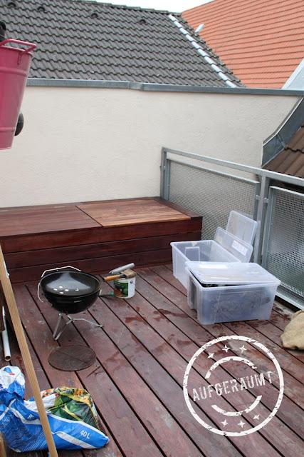 Gezimmerte Balkonbox